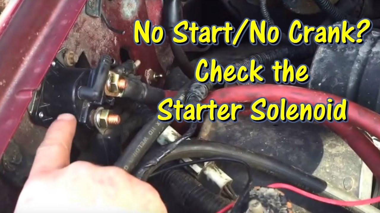 Ford No StartNo Crank  Check the Starter Solenoid