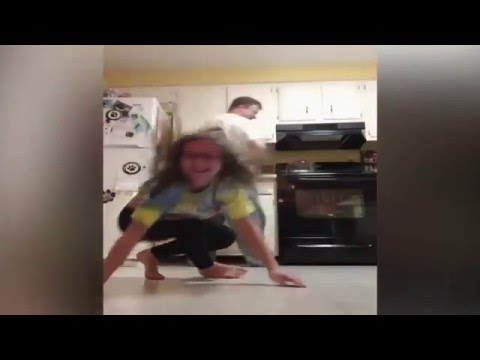 Dad Farts while Daughter Does a Handstand for Try not to Laugh Challenge