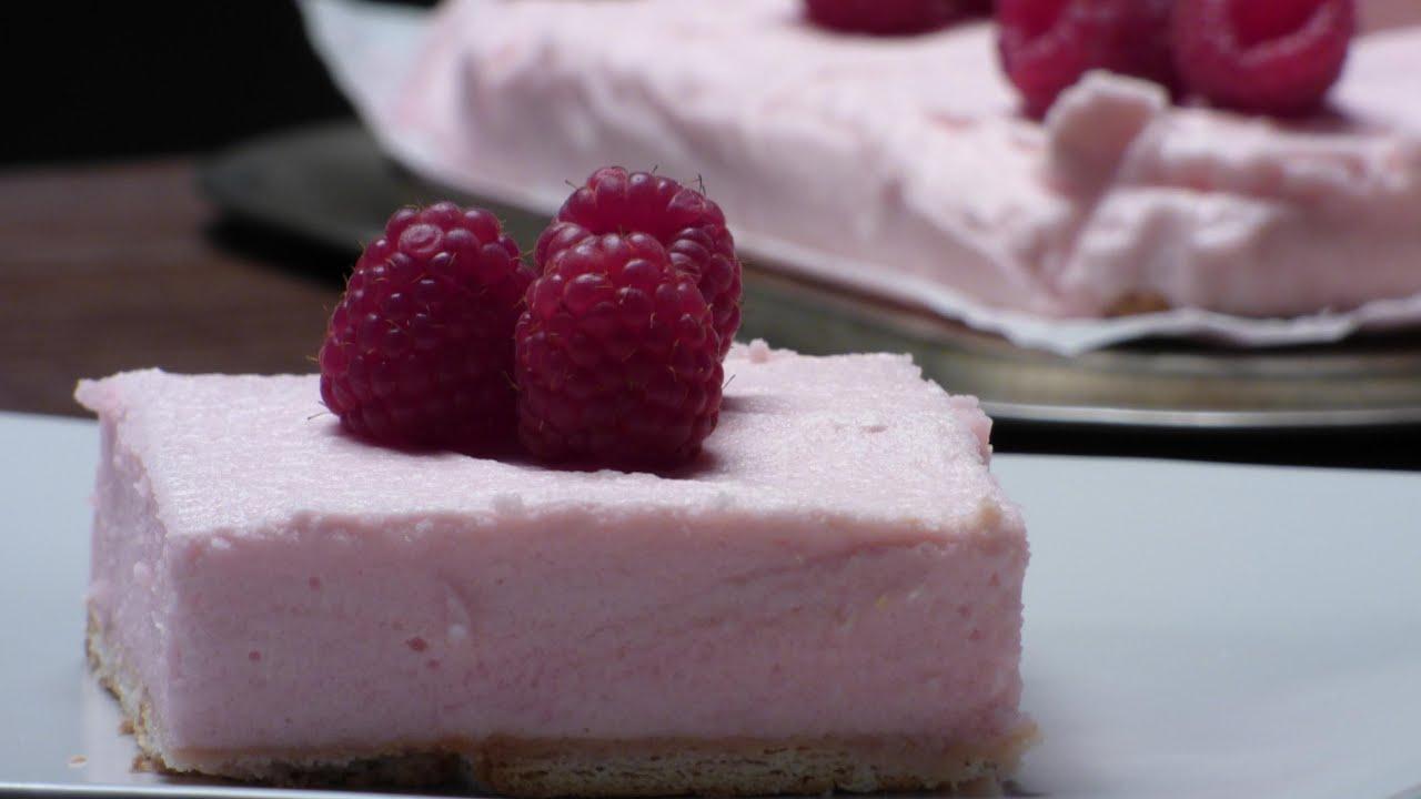 No Bake Raspberry Jello Mousse Cake Recipe By Foodcast Youtube