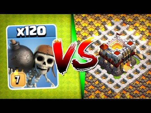 ALL LEVEL 7 WALL BREAKERS vs TOWN HALL 11! - Clash Of Clans - MAX WALL BREAKER TROLL!