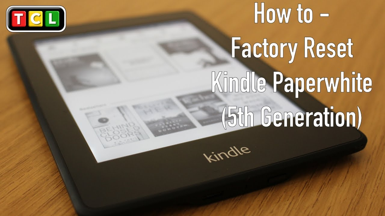 How To - Factory Reset Kindle Paperwhite - YouTube