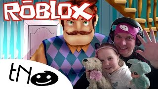 Let's try Hi neighbor in ROBLOX? | Daddy and Dharmendra (Hello Neighbor) CZ/SK
