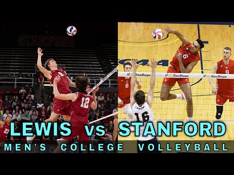Lewis vs Stanford Men's Volleyball (3/6/20) | NCAA Volleyball