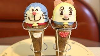 glico GiantCaplicoDecoration Doraemon & Dorami (edible chocolate DIY Candy)