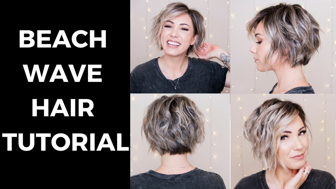 Beach Wave Hair Tutorial Short Hair Youtube