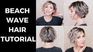 BEACH WAVE HAIR TUTORIAL || SHORT HAIR