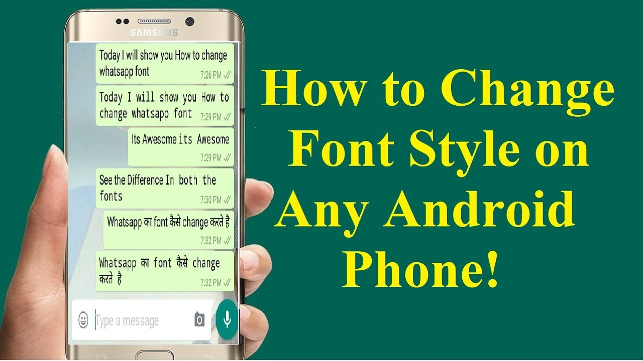 How to Change Font Style in Any Android Phone without root ...