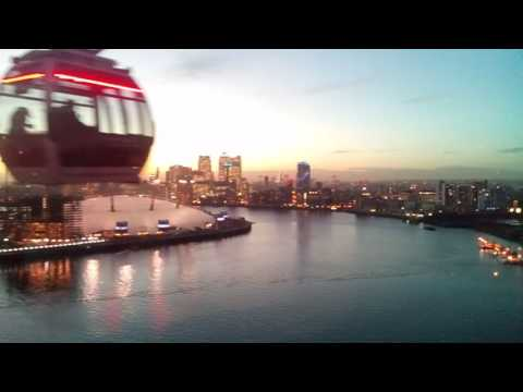 London in the evening, emirates cable car