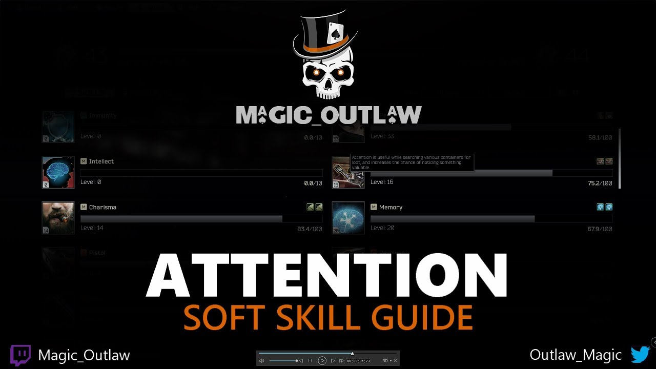 Attention - Soft Skill Levelling Guide - Escape From Tarkov