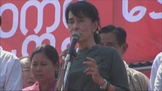 民主国家づくりを訴え スー・チーさん、遊説行脚
