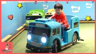 타요 키즈 카페 어린이 놀이 ♡ 꼬마버스 중앙차고지 자동차 장난감 운전 Tayo kids playground toys автобус тайо | 말이야와아이들 MariAndKids