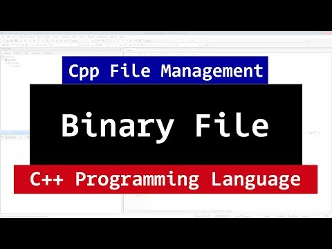 Binary Files in C++ | CPP Programming File Handling Video Tutorial