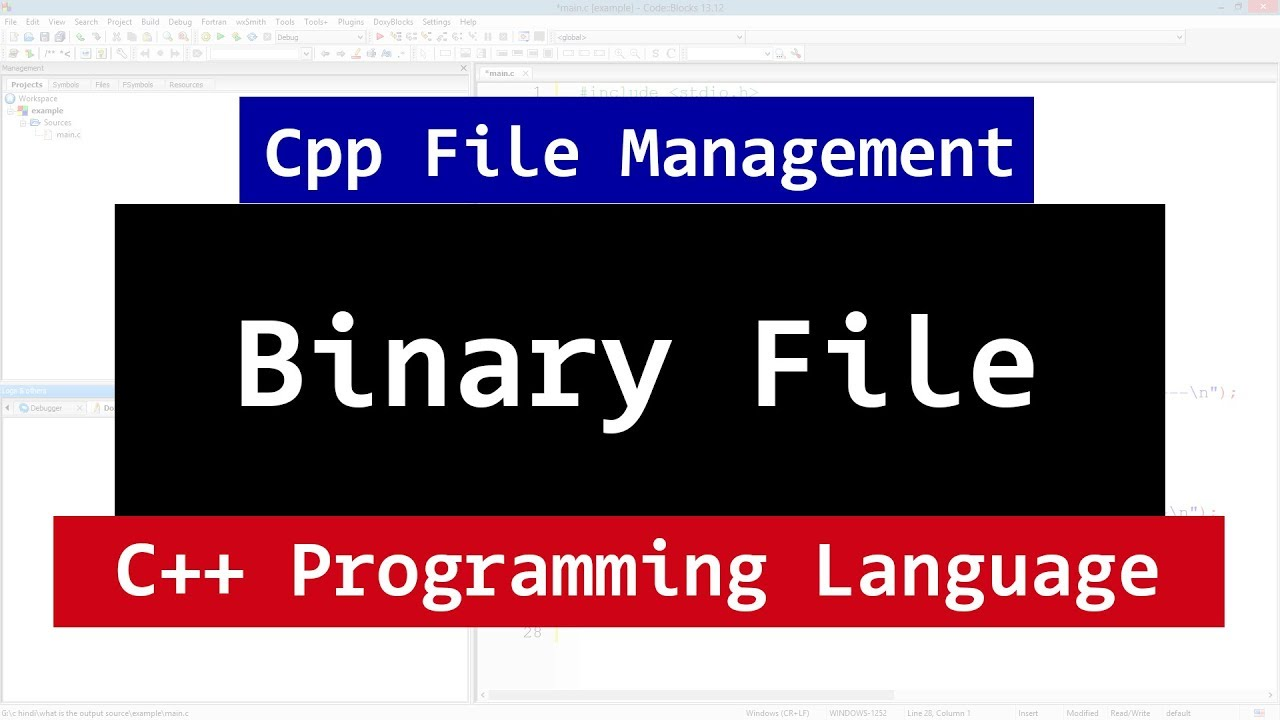 how to create a binary file in c++