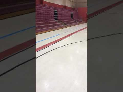 Moving Bleachers at burnside elementary school gym Burnside Ky part2 though part 2