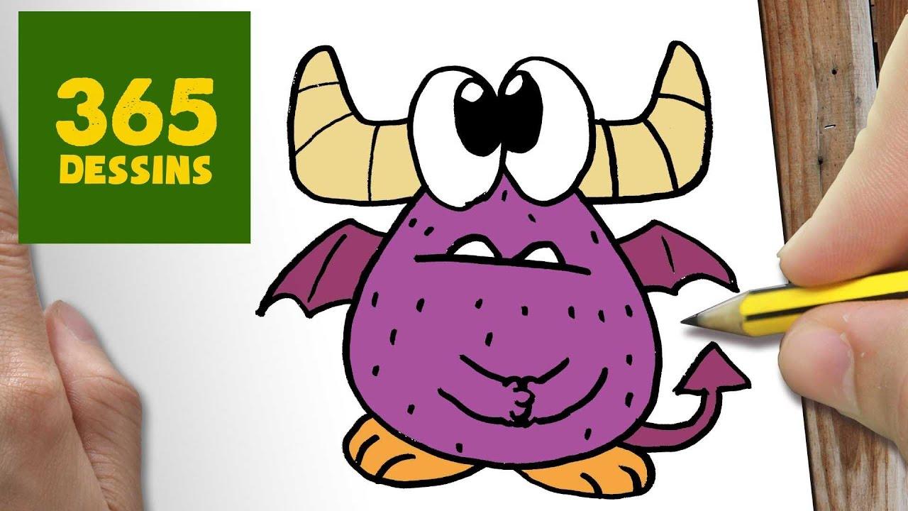 Comment dessiner monstre kawaii tape par tape dessins kawaii facile youtube - Dessins de monstres ...