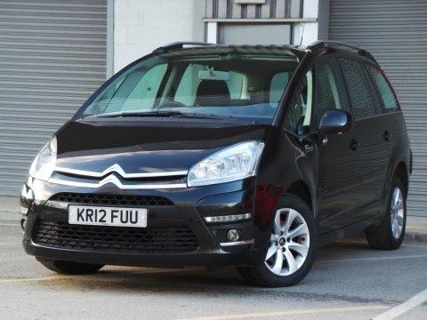 2012 12 citroen c4 grand picasso 1 6 e hdi airdream vtr plus 5dr egs6 auto 7 seats in black. Black Bedroom Furniture Sets. Home Design Ideas
