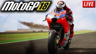 MotoGP 18 Live Stream | LAUNCH DAY STREAM FOR MOTOGP 2018 GAME (PC Gameplay)