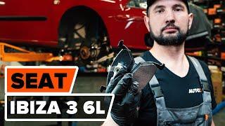 Kuinka vaihtaa Korjaussarja, alapallo / pallonivel SEAT IBIZA IV (6L1) - ilmaiseksi video verkossa