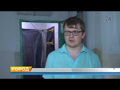 В Казани в доме на проспекте Ямашева затопило квартиры во время дождя