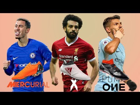 NEW FOOTBALL BOOTS PREMIER LEAGUE 2018 Ft. HAZARD, SALAH, AGUERO, KANE .etc..