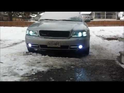 Audi a4 headlight customize - YouTube