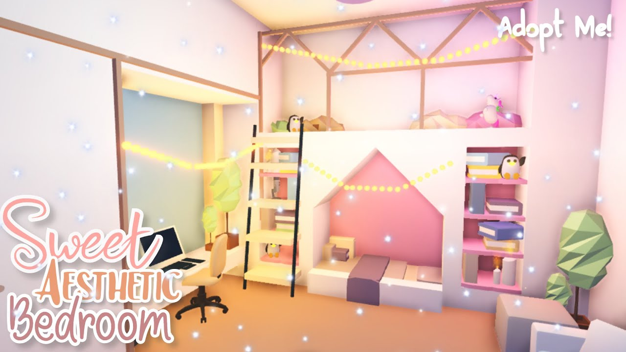 Sweet Aesthetic Bedroom Adopt Me Speed Build Youtube