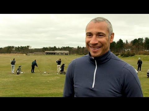 Celtic FC - Henrik Larsson at Scott Brown's golf day