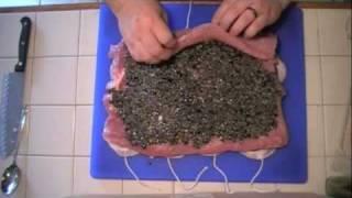 Tapenade Stuffed Pork Loin