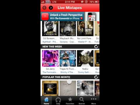 Livemixtapes app