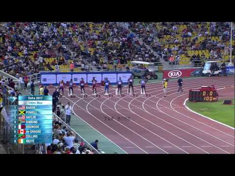 ASAFA POWELL BEATS JUSTIN GATLIN MEN'S 100M RACE IAAF ( May 2017 )