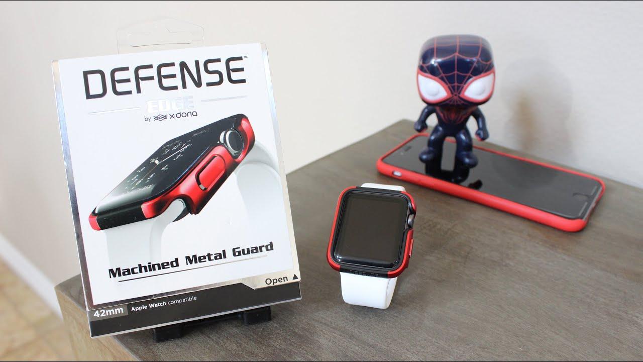x doria defense watch  X-Doria Defense Edge Apple Watch Case Review (42mm) - YouTube