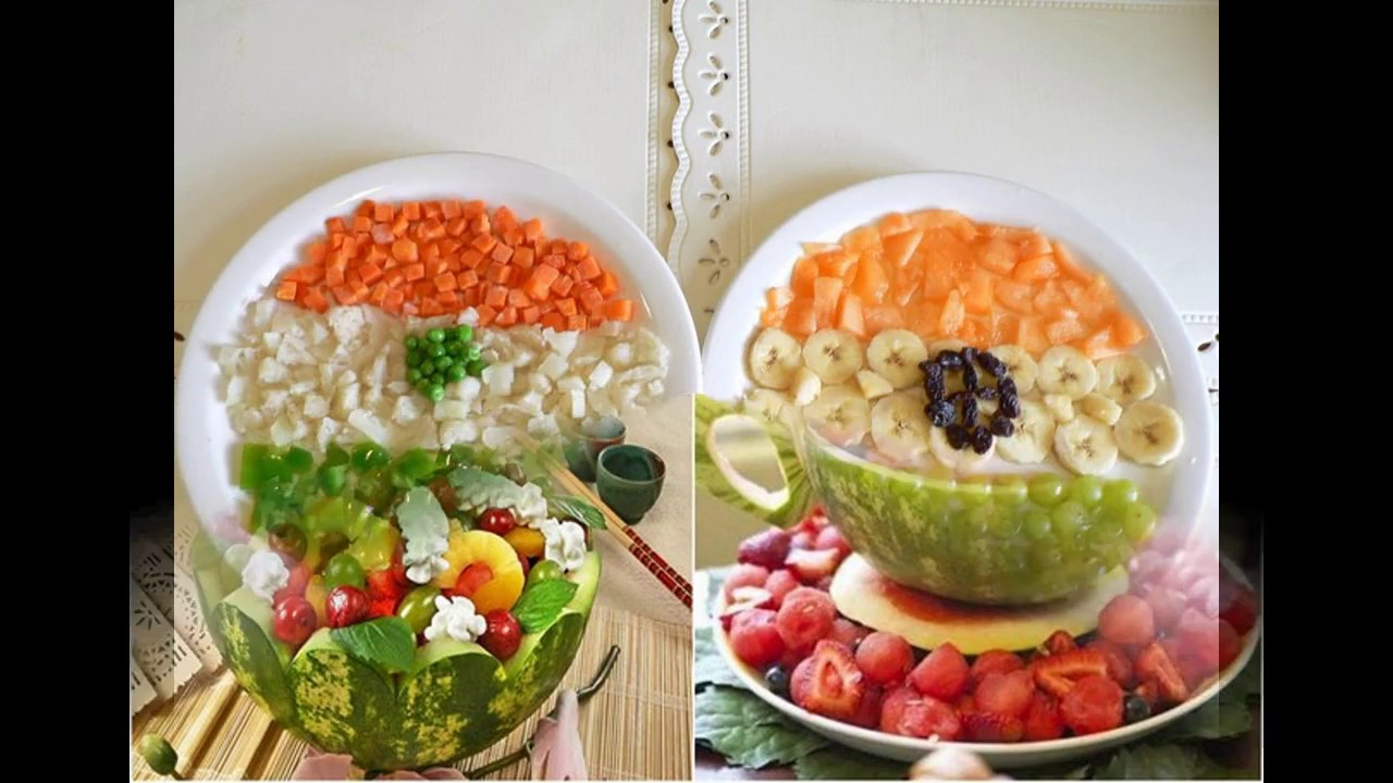 Easy fruit salad decoration ideas youtube for Salas ideas