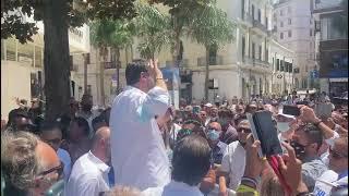 Salvini a Brindisi per il referendum Giustizia, parla anche di pandemia e tasse