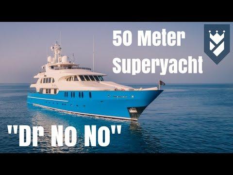 50m Superyacht For Sale. DR NO NO Walk Through Video