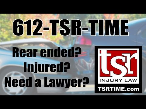 Rear Ended Crash in Champlin MN 612-TSR-TIME