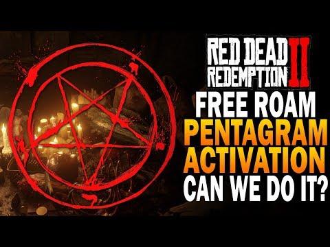 Free Roam Gameplay - Can We Activate The Pentagram - Red Dead Redemption 2 Secrets [4K RDR2]