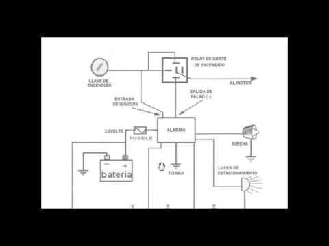 Curso De Alarmas Para Automovil, Conexiones Basicas Y Bloqueo De Motor