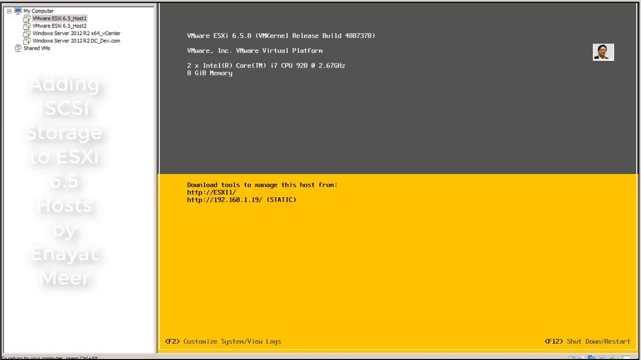 Video 8 - Adding iSCSI Storage to ESXI 6 5 Hosts - step by step