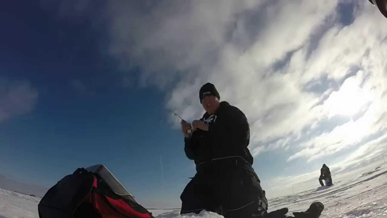 Ice fishing devils lake youtube for Devils lake ice fishing reports