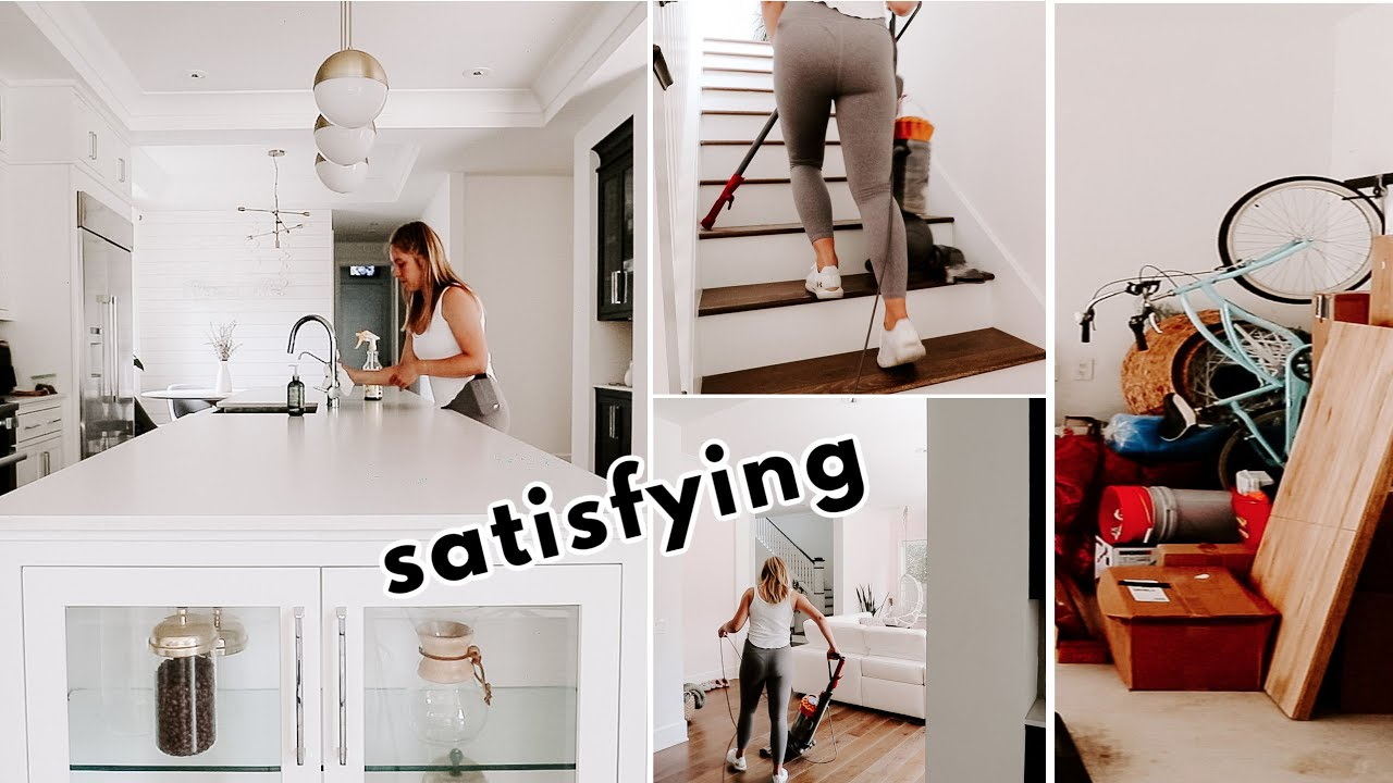 HUGE Deep Cleaning / Decluttering My House! Cleaning Montage