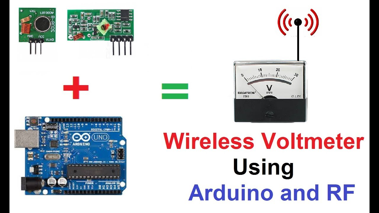 Wireless Voltmeter Using Arduino And Rf 433mhz Receiver Transmitter Circuit