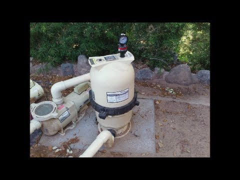 cleaning a pentair clean & clear cc50 - cc200 filter -