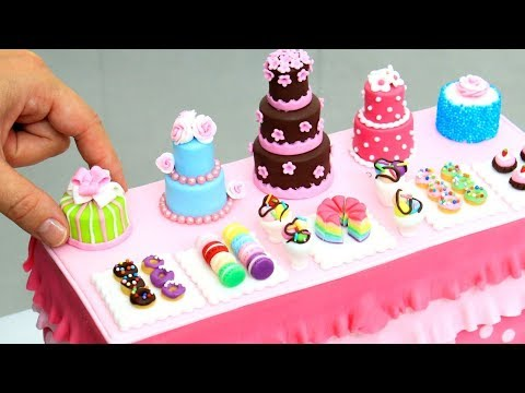 Miniature Sweet Table Cake by Cakes StepbyStep | ミニチュアケーキ
