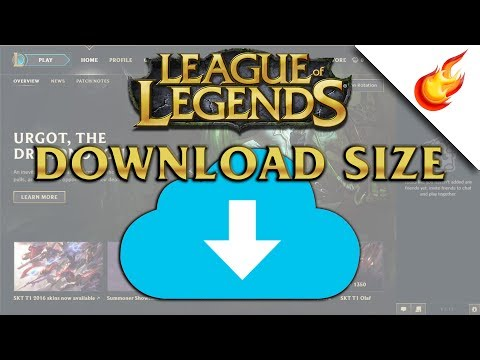 ANSWERED - What Size Is The LEAGUE OF LEGENDS Download? - 2017