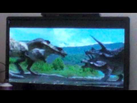 Prehistoric Park T Rex pack Vs Triceratops herd