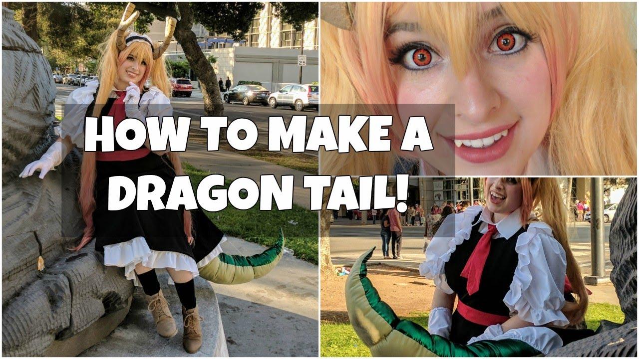 Cosplay Dragon Tail Tutorial Tohru From Miss Kobayashi S Dragon