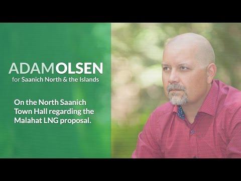 Adam Olsen - North Saanich Town Hall on Malahat LNG - YouTube