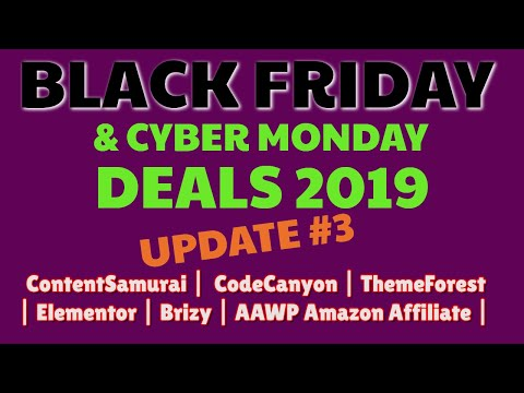 Best Black Friday Deals 2019 | Content Samurai 40% Discount | Code Canyon | Glorify thumbnail