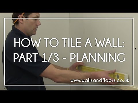 How To Tile A Wall 13 Getting The Layout Right Youtube - Backsplash-installation-plans