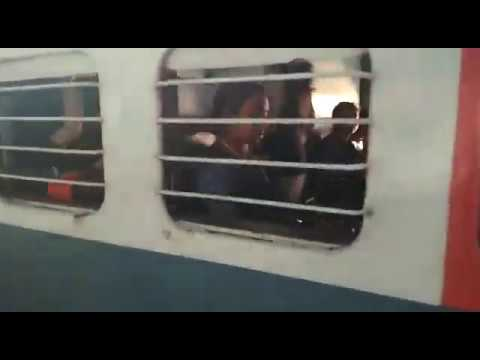 Chain snatching caught red hand from a indian train